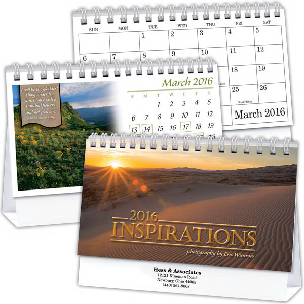 Printed Kingswood Collection Inspirations Deluxe Desk Calendar