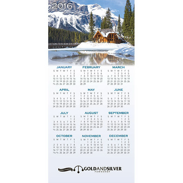 Customized Z-Fold Scenic Calendar