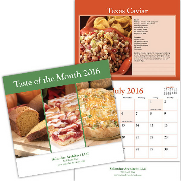 Personalized Kingswood Collection Taste of the Month Wall Calendar