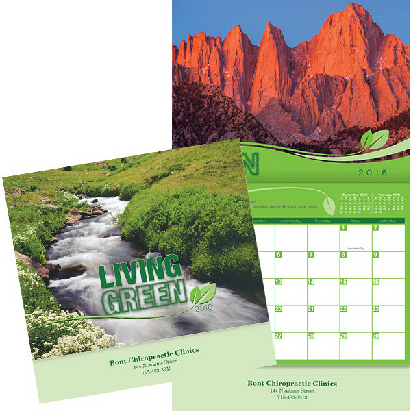 Customized Kingswood Collection Living Green Wall Calendar