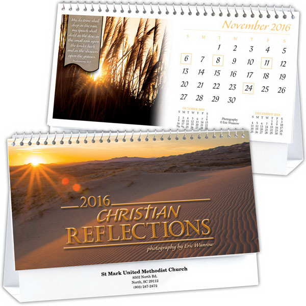 Promotional Kingswood Collection Christian Reflections Desk Calendar