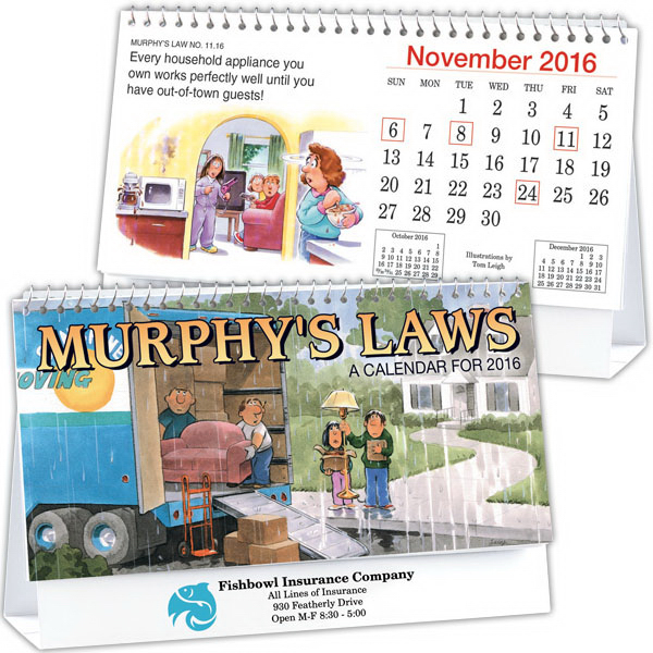 Promotional Kingswood Collection Murphy's Laws Desk Calendar