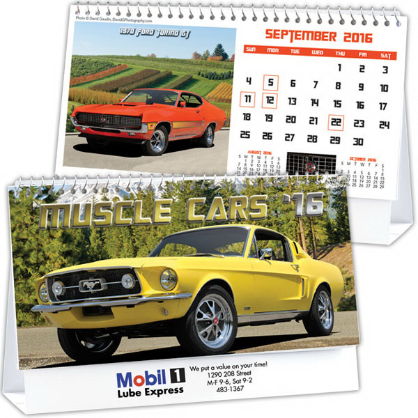 Custom Kingswood Collection Muscle Cars Desk Calendar
