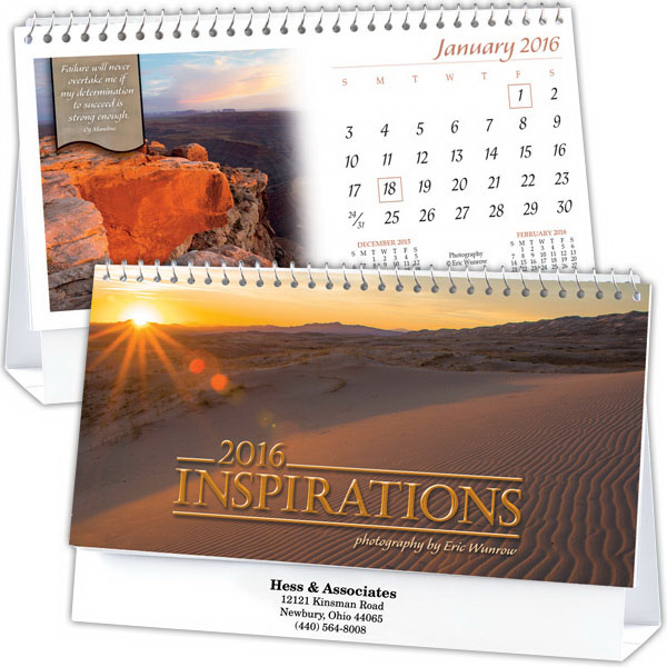 Customized Kingswood Collection Insprirations Standard Desk Calendar