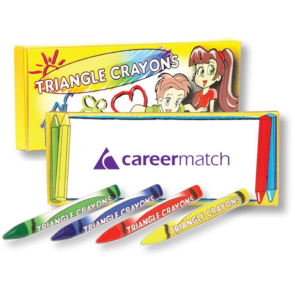 Personalized 4 Pack Of Crayons