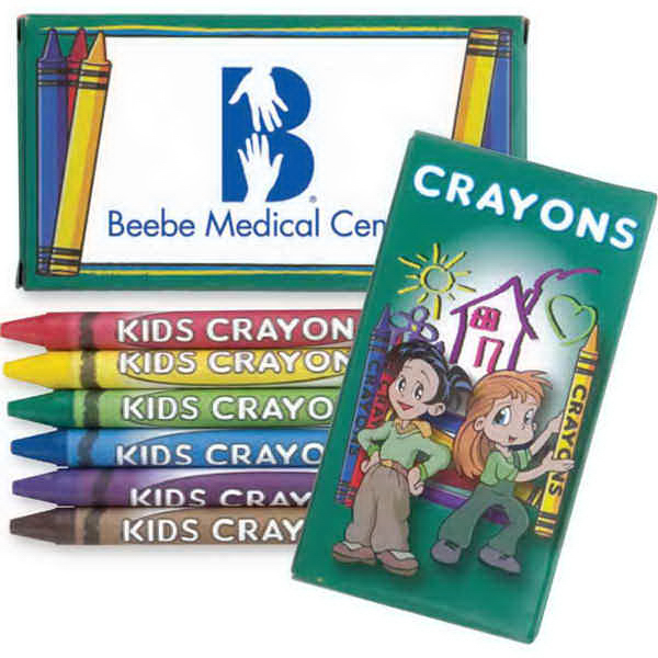 Promotional 6 Pack Of Crayons