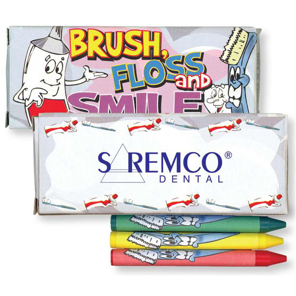 Promotional 4 Pack Of Dental Crayons