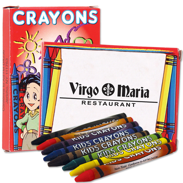 Customized 8 Pack Of Crayons
