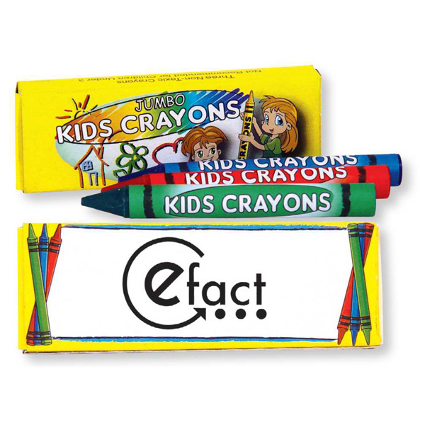 Custom 3 Pack Of Jumbo Crayons
