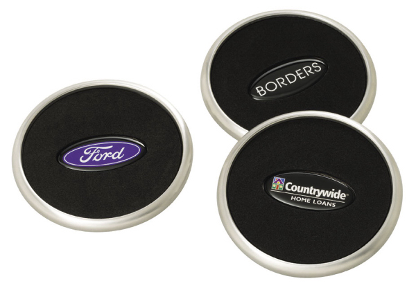 Promotional Stainless Steel Coaster with N-Dome (tm)