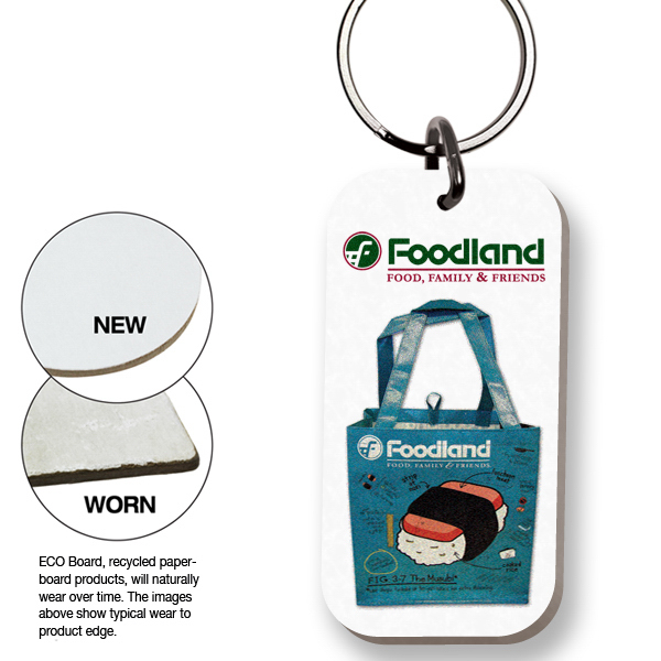 Personalized ECO Key Tag - Rectangle - Full Color