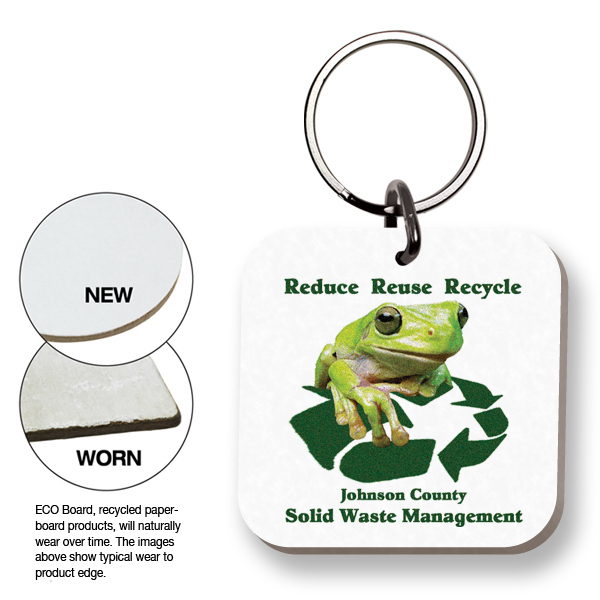 Custom ECO Key Tag - Square - Full Color