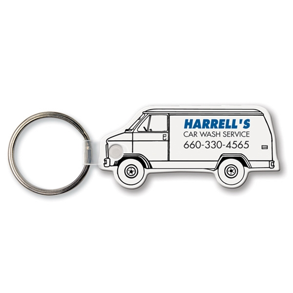 Custom Key Tag - Van - Spot Color