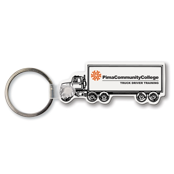 Printed Key Tag - Semi Truck - Spot Color