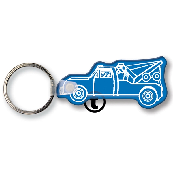 Personalized Key Tag - Tow Truck - Spot Color