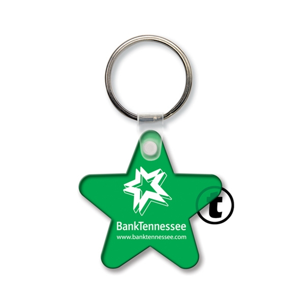 Imprinted Key Tag - Star - Spot Color