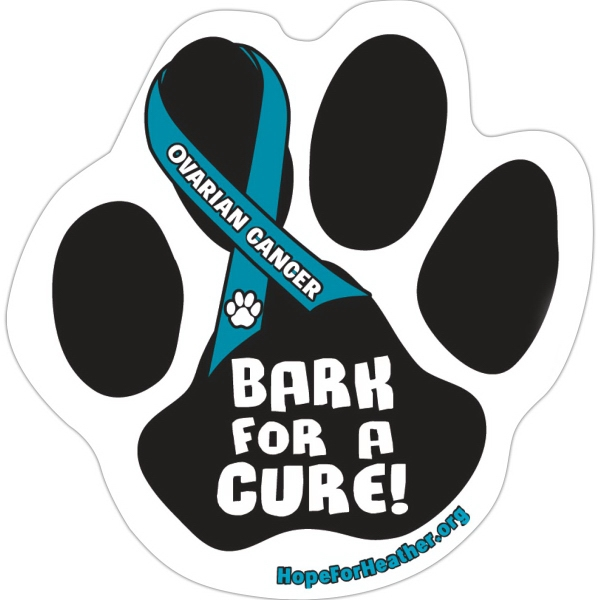 Custom Car (Outdoor) Magnet - Paw Print - Full Color