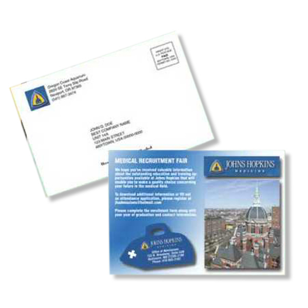Printed Small Magnetic Postcard Flat Package Mailer