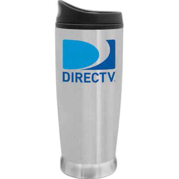 Imprinted Steel City Brushed Stainless Steel Tumbler