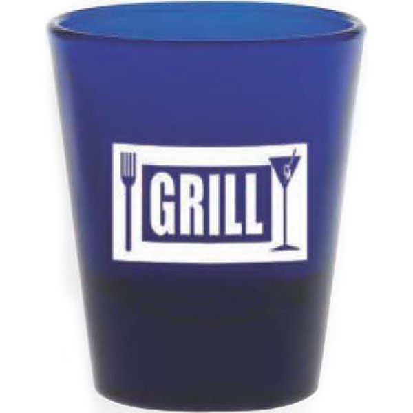 Printed Blue Shot Glass