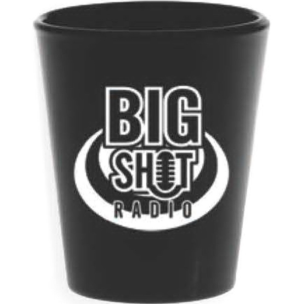 Printed Black Shot Glass