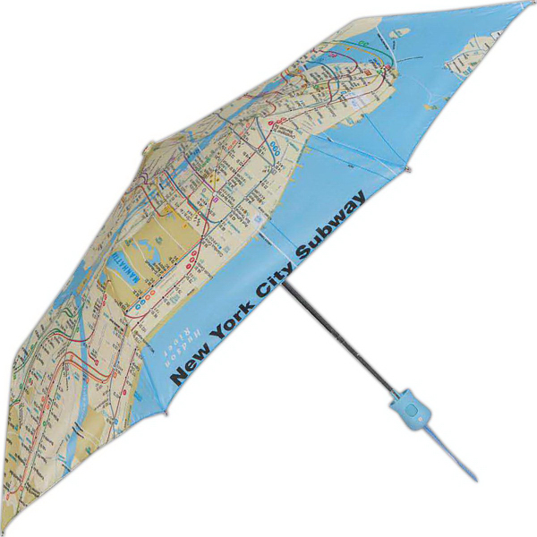 Customized Subway Automatic Open Umbrella With NYC Subway System Map