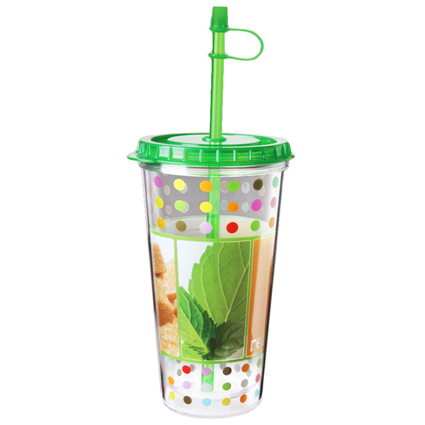 Custom Full color clear TakeOut Tumbler