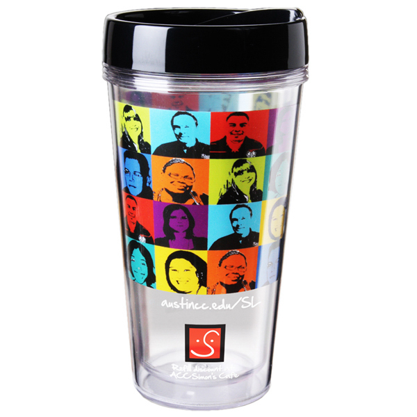 Imprinted Full color clear travel tumbler