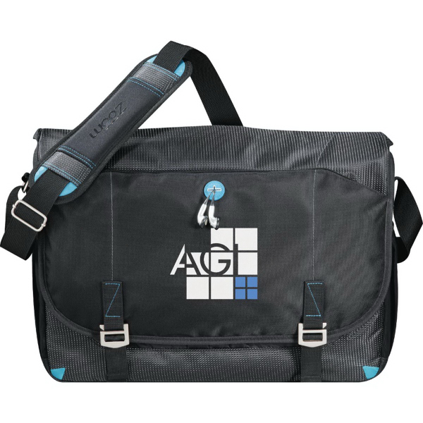 Customized Zoom (TM) Checkpoint-Friendly Compu-Messenger Bag