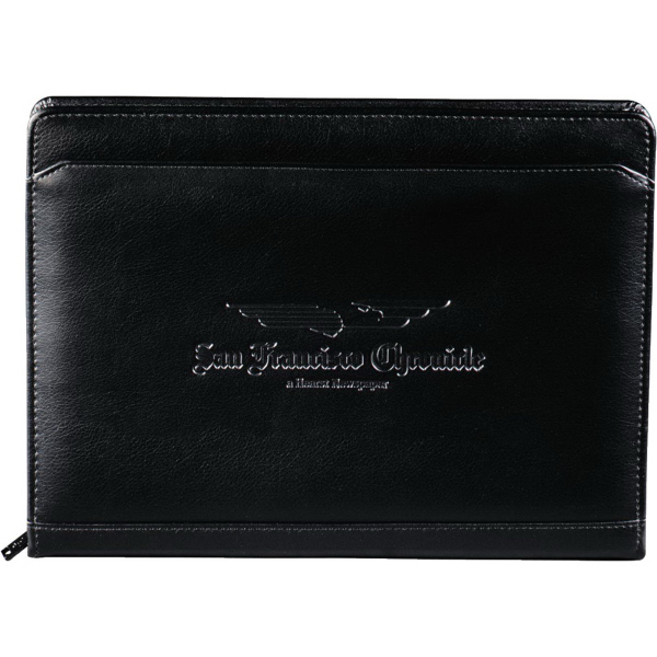 Promotional Manchester Zippered Padfolio