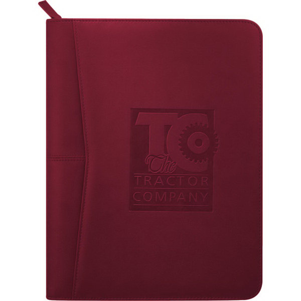 Custom Pedova Zippered Padfolio