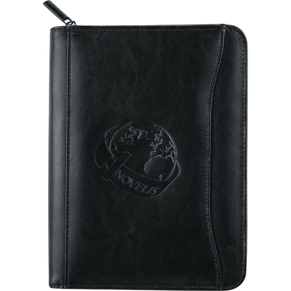 Imprinted Renaissance Jr. Zippered Padfolio