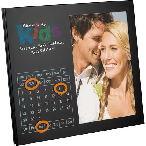 Promotional Magnetic Photo Frame with Perpetual Calendar 5-inch x 7-inch