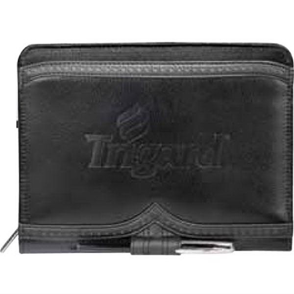 Imprinted Wingtip Jr. Zippered Padfolio