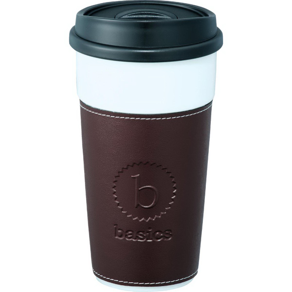 Imprinted Hampton Ceramic Tumbler with Hard Lid 16 oz