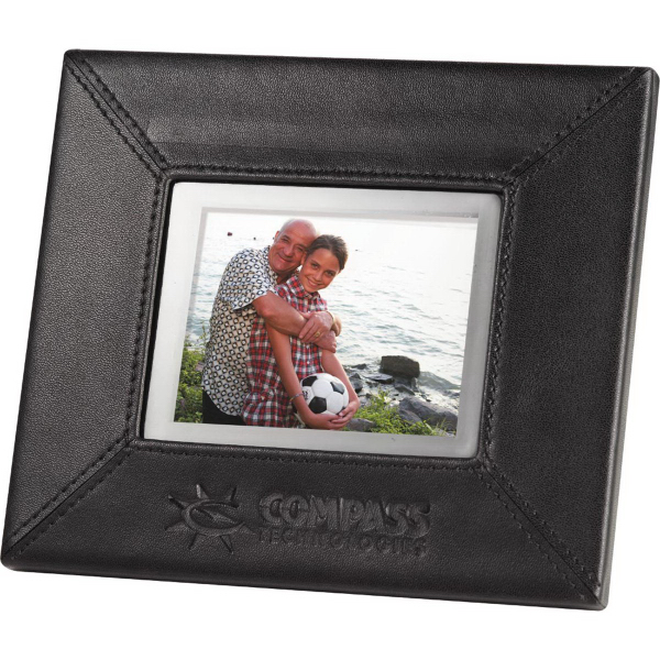 Custom 3.5-inch Leather Digital Photo Frame