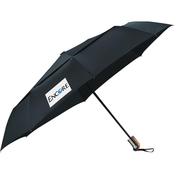 "Personalized 46"" Chairman Auto Open / Close Vented Umbrella"
