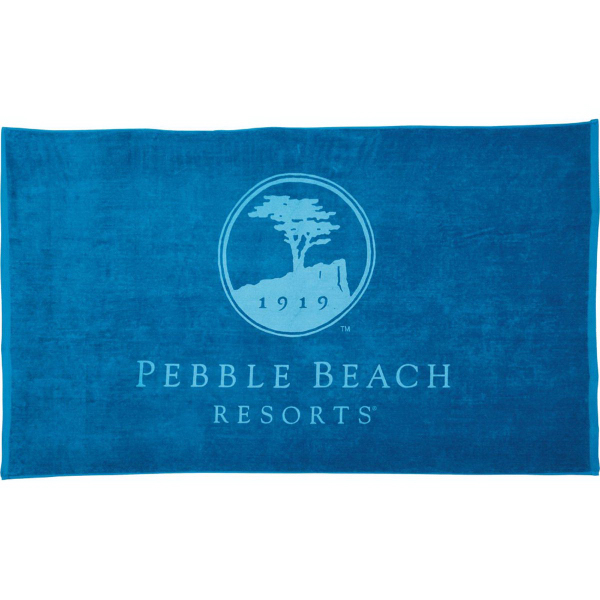 Imprinted 18 lb./doz. Colored Beach Towel