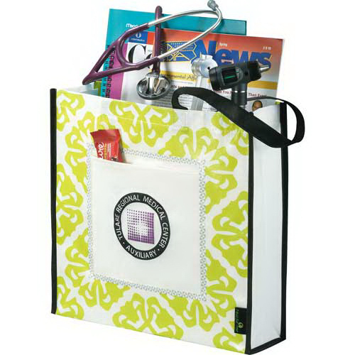Custom Laminated Non Woven Retro Convention Tote