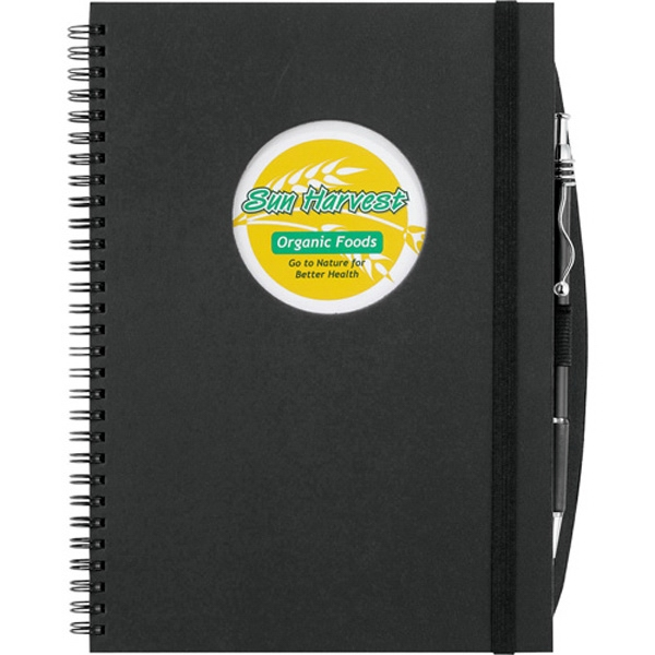 Imprinted Frame Circle Large Hardcover JournalBook