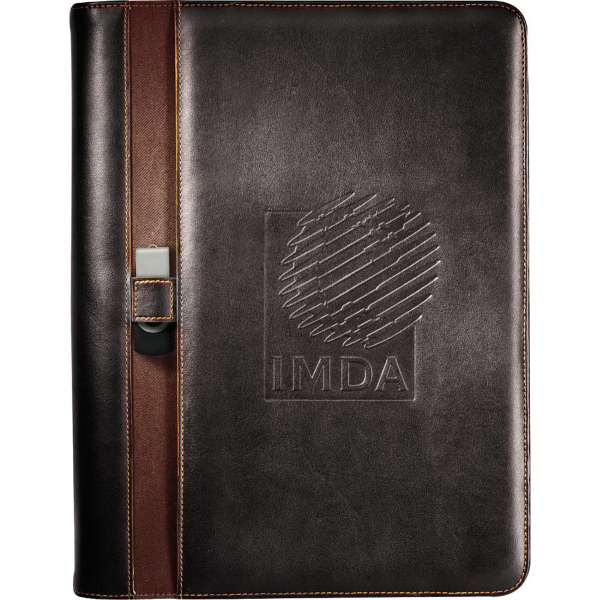 Imprinted Stratford Zippered Padfolio