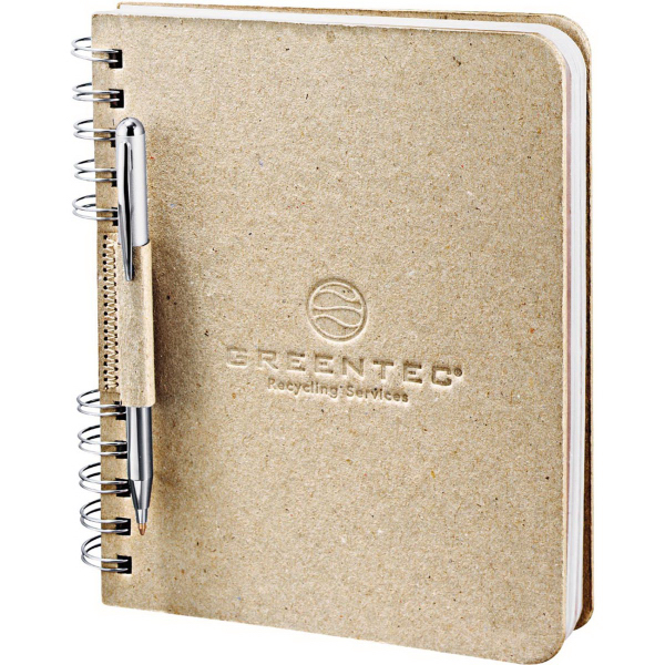 Personalized Recycled Cardboard JournalBook