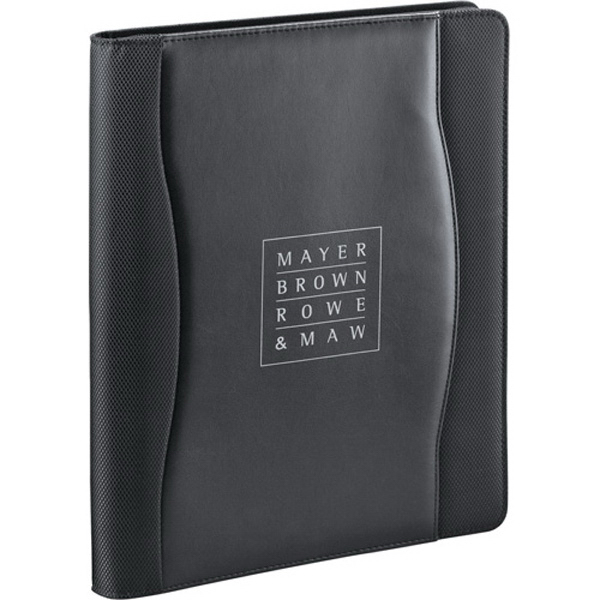 Imprinted Wave Zippered Padfolio