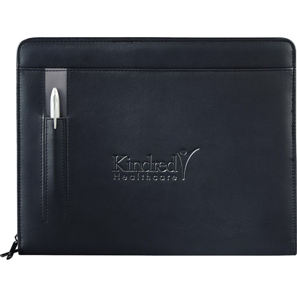 Promotional Links Zippered Padfolio