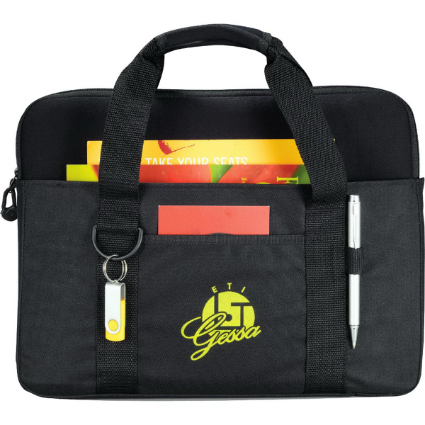 Printed Tuck Compu-Brief with Laptop Sleeve