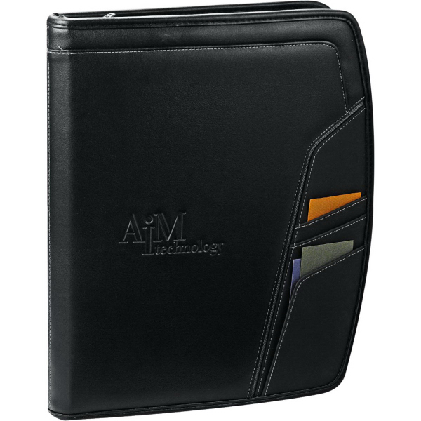 Printed Precision Zippered Padfolio