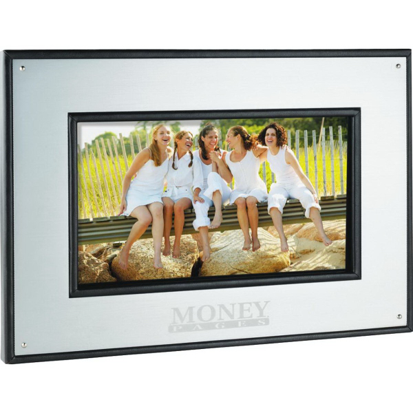 "Personalized 7"" Aluminum Digital Photo Frame - 1GB"