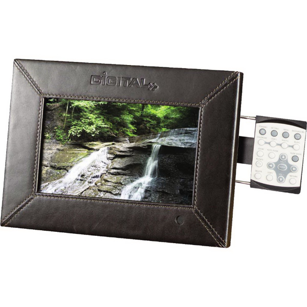 "Custom 7"" Leather Digital Photo Frame - 1GB Memory"