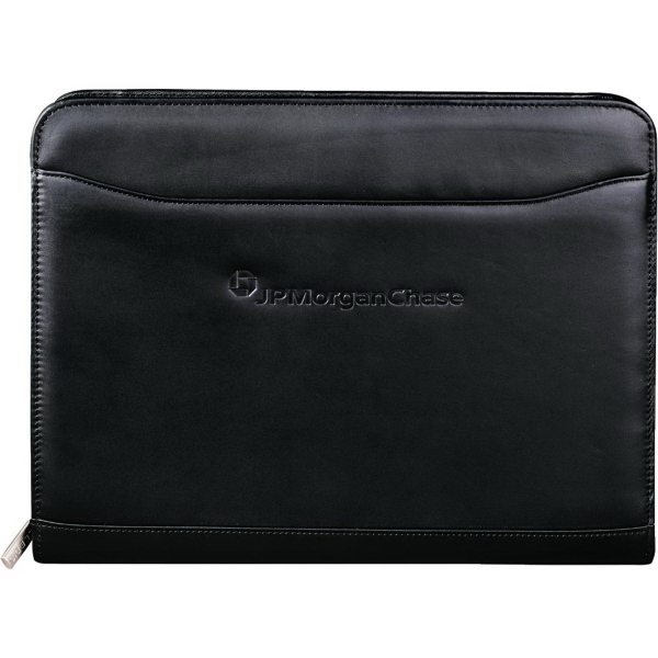 Promotional Millennium Leather Zippered Padfolio