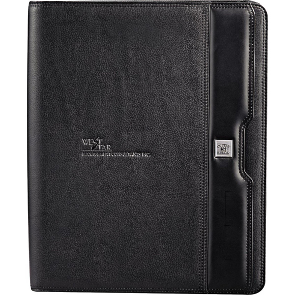 Imprinted Cutter & Buck (R) Performance Series Zippered Padfolio